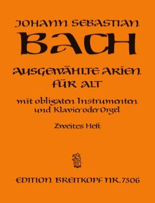 BACH - Airs de Cantates Alto Volume 2 - Partition - di-arezzo.fr