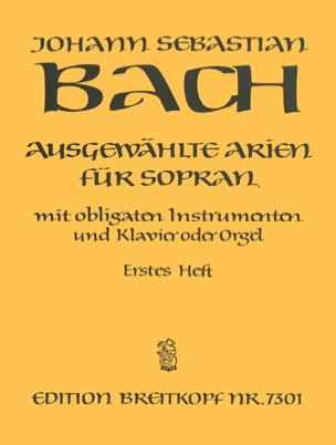 BACH - Airs of Soprano Cantata Volume 1 - Sheet Music - di-arezzo.com