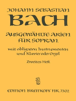 BACH - Airs of Soprano Cantata Volume 2 - Sheet Music - di-arezzo.com