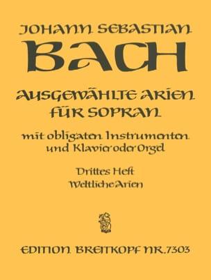 Jean-Sébastien Bach - Airs de Cantates Soprano Volume 3 - Partition - di-arezzo.fr
