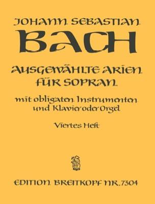 BACH - Airs de Cantates Soprano Volume 4 - Partition - di-arezzo.fr