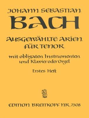 BACH - Airs de Cantates Ténor Volume 1 - Partition - di-arezzo.fr