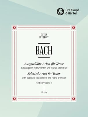 Jean-Sébastien Bach - Airs de Cantates Ténor Volume 2 - Partition - di-arezzo.fr
