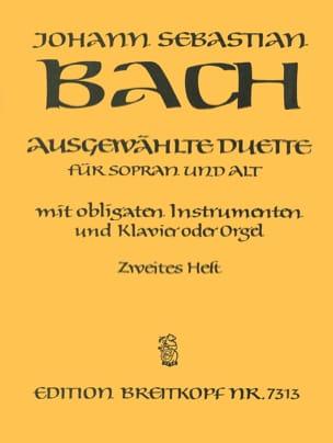 Ausgewählte Duette Sopran und Alt Volume 2 BACH Partition laflutedepan