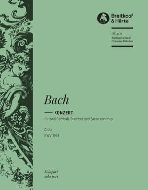 BACH - Concerto Pour 2 Claviers BWV 1061. Clavier 1 - Partition - di-arezzo.fr