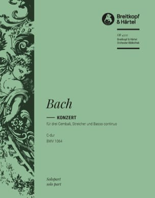 BACH - Concerto For 3 Keyboards BWV 1064. Harpsichord 2 - Sheet Music - di-arezzo.co.uk