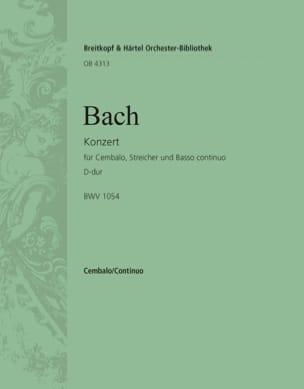 Jean-Sébastien Bach - Concerto Pour Clavier En Ré Majeur BWV 1054. - Partition - di-arezzo.fr