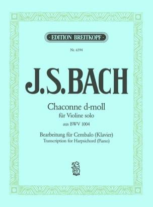 Jean-Sébastien Bach - Chaconne D-Moll BWV 1004 - Partition - di-arezzo.fr