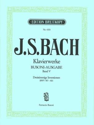 Bach Jean-Sébastien / Busoni Ferruccio - Dreistimmige Inventionen. Volume 5 - Partition - di-arezzo.fr