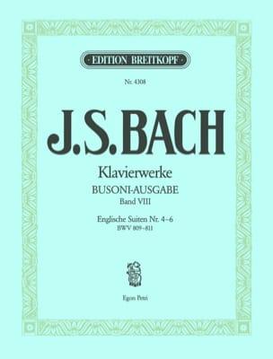Bach Jean-Sébastien / Busoni Ferruccio - Englische Suiten, Nr. 4-6 volume 8 - Partition - di-arezzo.fr