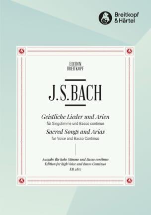 BACH - Geistliche Lieder Und Arien. Voz alta - Partitura - di-arezzo.es