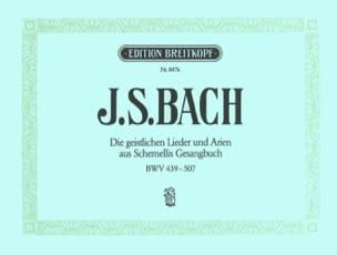 BACH - Geistliche Lieder und Arien Schemelli - Partition - di-arezzo.fr