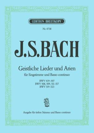 BACH - Geistliche Lieder Und Arien. Voix Grave - Partition - di-arezzo.fr