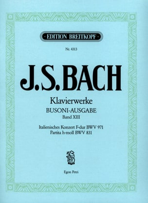 Bach Jean-Sébastien / Busoni Ferruccio - Italienisches Konzert, Partita. Volume 13 - Sheet Music - di-arezzo.co.uk