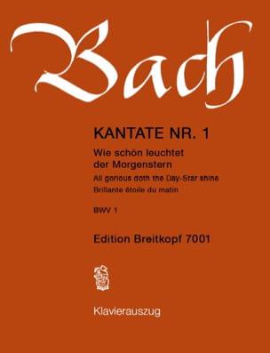 BACH - Cantate 1 Wie Schön Leuchtet Der Morgenstern - Partition - di-arezzo.fr