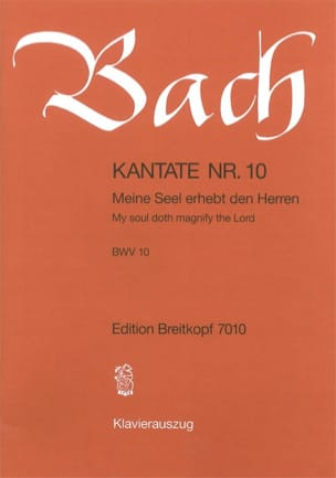BACH - Cantate 10 Meine Seel Erhebt Den Herren - Partition - di-arezzo.fr