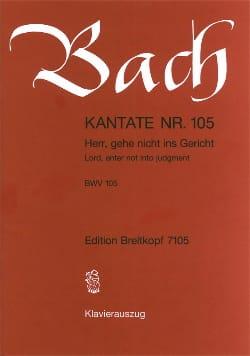 BACH - Cantate Herr 105, Gehe Nicht Ins Gericht - Noten - di-arezzo.de