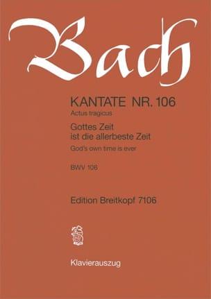 BACH - Cantate 106 Gottes Zeit Ist Die Allerbeste Zeit - Partition - di-arezzo.fr