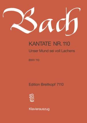 BACH - Cantate 110 Unser Mund Sei Voll Lachens - Partition - di-arezzo.fr