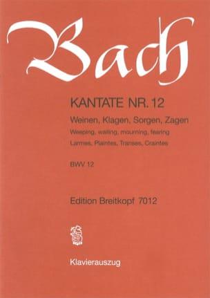 BACH - Cantate 12 Weinen, Klagen, Sorgen, Zagen - Noten - di-arezzo.de