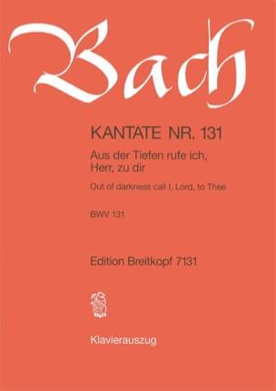 Jean-Sébastien Bach - Cantate 131 Aus Der Tiefe Rufe Ich, Herr, Zu Dir - Partition - di-arezzo.fr