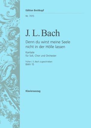 BACH - Cantate 15 Denn Du Wirst Meine Seele Nicht en Der Holle Lassen - Partitura - di-arezzo.es