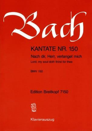 BACH - Cantate 150 Nach Dir, Herr, Verlanget Mich - Partition - di-arezzo.fr