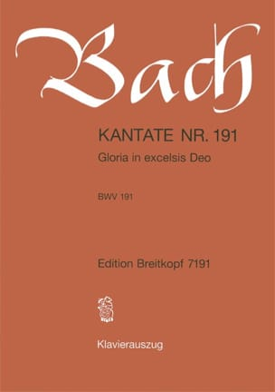 BACH - Cantate 191 Gloria In Excelsis Deo - Sheet Music - di-arezzo.co.uk