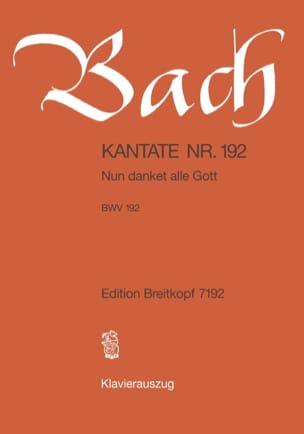 Cantate 192 Nun Danket Alle Gott - BACH - Partition - laflutedepan.com