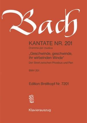 Jean-Sébastien Bach - Cantate 201 Geschwinde, Geschwinde Ihr Wirbelnden Winde - Partition - di-arezzo.fr