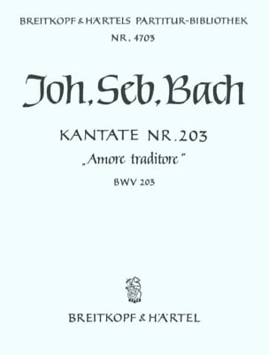 Cantate 203 Amore traditore - BACH - Partition - laflutedepan.com