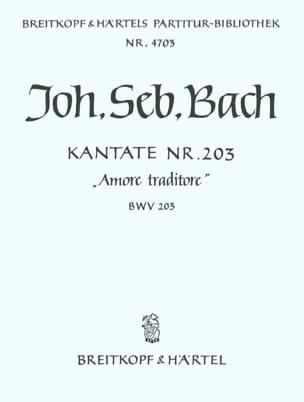 Jean-Sébastien Bach - Cantate 203 Amore traditore - Partition - di-arezzo.fr