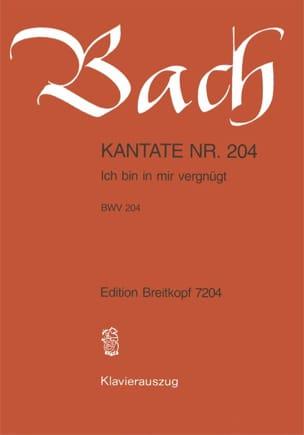 Jean-Sébastien Bach - Cantate 204 Ich Bin In Mir Vergnügt - Partition - di-arezzo.fr