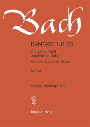 Cantate 23 Du Wahrer Gott Und Davids Sohn - BACH - laflutedepan.com