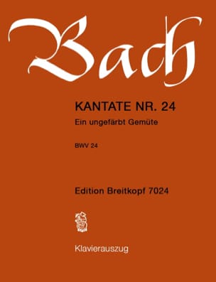 Cantate 24 Ein Ungefärbt Gemüte Johann S Bach Partition laflutedepan