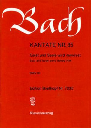 Cantate 35 Geist Und Seele Wird Verwirret BACH Partition laflutedepan