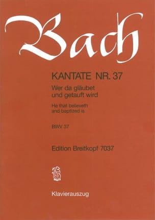 BACH - Cantata 37 Wer Da Gläubet Und Getauft Wird - Sheet Music - di-arezzo.com
