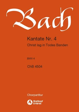 BACH - Cantate 4 Christ Lag In Todes Banden. Choeur - Partition - di-arezzo.fr