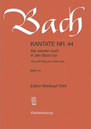 BACH - Kantate 44 Sie werden Euch in den Bann Tun - Noten - di-arezzo.de
