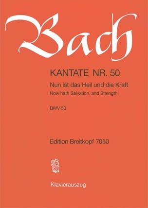 Jean-Sébastien Bach - Cantate 50 Nun Ist Das Heil Und Die Kraft - Partition - di-arezzo.fr