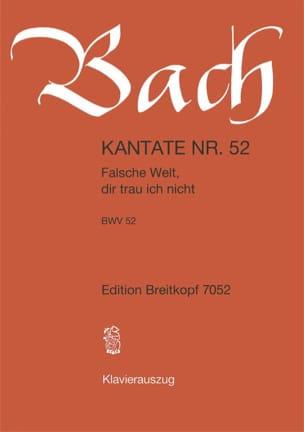 BACH - Cantate 52 Falsche Welt, dir ich nicht - Noten - di-arezzo.de