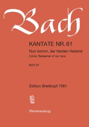 BACH - Kantate 61 Nun Komm, Der Heid. Conducteur - Partition - di-arezzo.fr