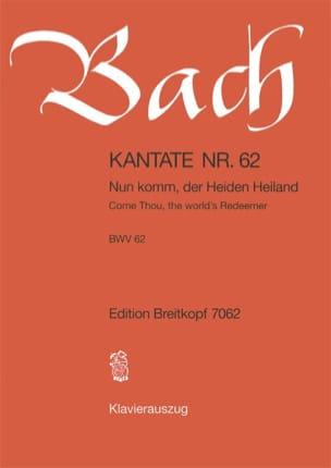 BACH - Cantate 62 Nun Komm, Der Heiden Heiland - Partition - di-arezzo.fr