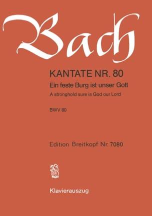 Jean-Sébastien Bach - Cantate 80 Ein Feste Burg Ist Unser Gott - Partition - di-arezzo.fr