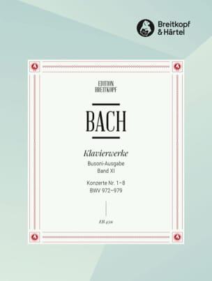 Bach Jean-Sébastien / Busoni Ferruccio - Konzerte Von Verschiedenen Meistern 1-8. Volume 11 - Partition - di-arezzo.fr