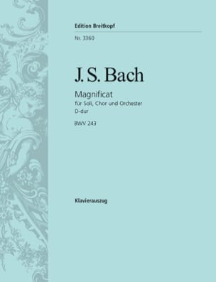 BACH - Magnificat In D Major BWV 243 - Sheet Music - di-arezzo.co.uk