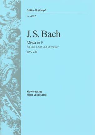 Jean-Sébastien Bach - Messe F-dur BWV 233 - Partition - di-arezzo.fr
