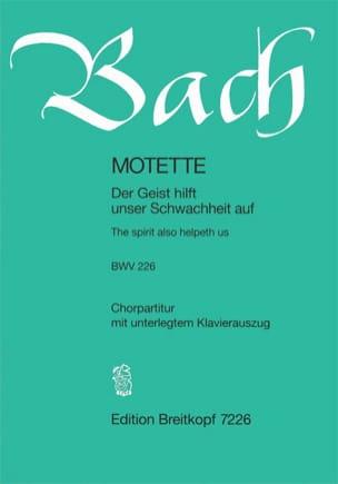 BACH - Motet BWV 226. Der Geist Hilft Unser Schwachheit Auf - Partition - di-arezzo.fr