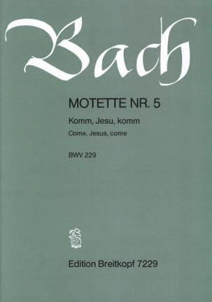 BACH - Motet No. 5 Komm, Jesu, Komm. BWV 229 - Sheet Music - di-arezzo.com