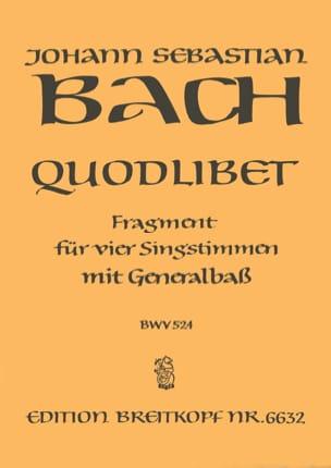 Jean-Sébastien Bach - Quodlibet BWV 524 - Partition - di-arezzo.fr